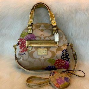 COACH PoPPy Daisy Appliqué foldover bag & Wristlet